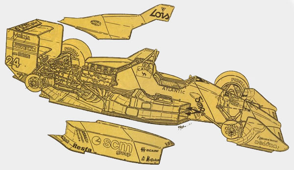 Minardi al comando di luigi papetti for Una planimetria della cabina del telaio