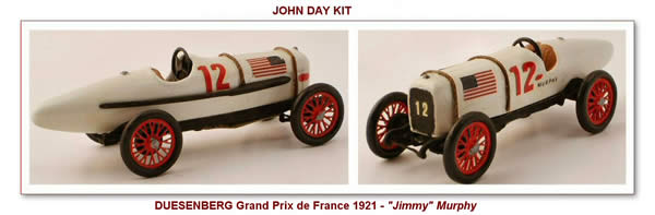 Duesemberg Grand Prix de France 1921 - John Day Kit