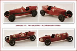 Fiat 805 GP 1923 -  Alfa Romeo  P2 GP 1924 -  John Day Kit